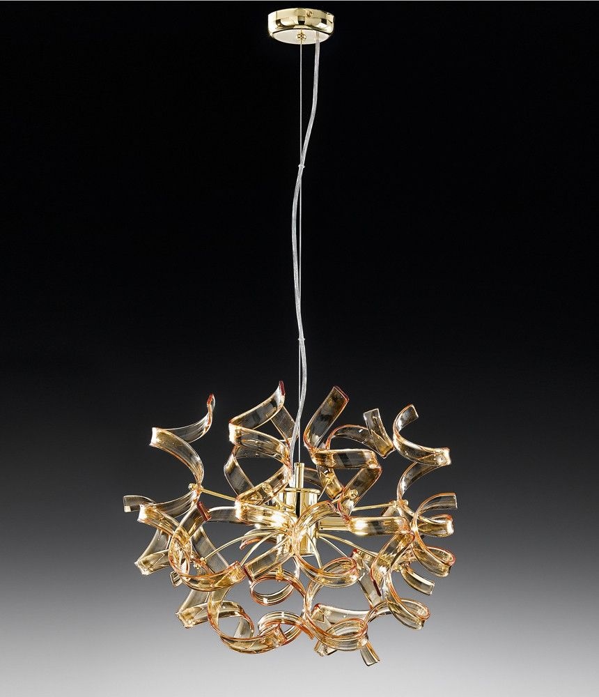 Pendant Lamp Made In Italy By Metal Lux 24 Kt Gold Or Shiny Chrome Finishing Metal Structure Transparent Or D Pendant Lamp Hanging Lights Beautiful Lighting