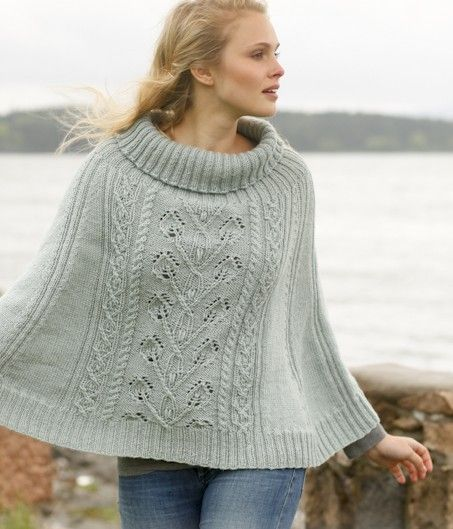 Frozen Ivy Poncho Free Knitting Pattern and more free poncho ...