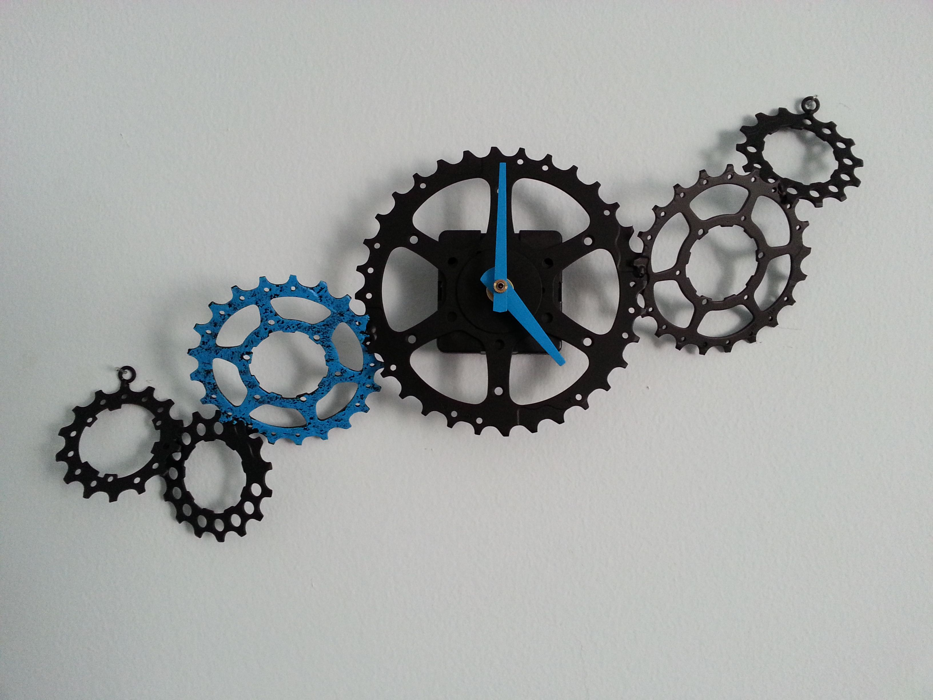 Recycled Bike Gears Clock For More Of My Work Check Out Etsy Com