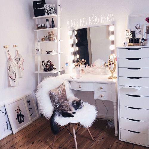 Coiffeuse Coin Make Up Decoration Chambre Ado Idee Chambre Et