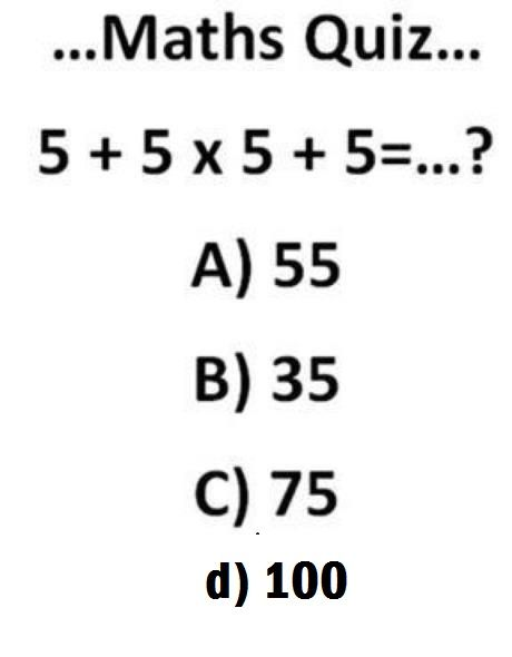 Most Confusing And Simple Maths Quiz - Webmasters