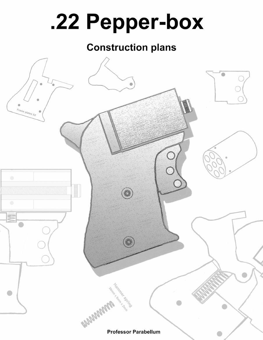 22 pepperbox revolver homemade gun plans professor parabellum