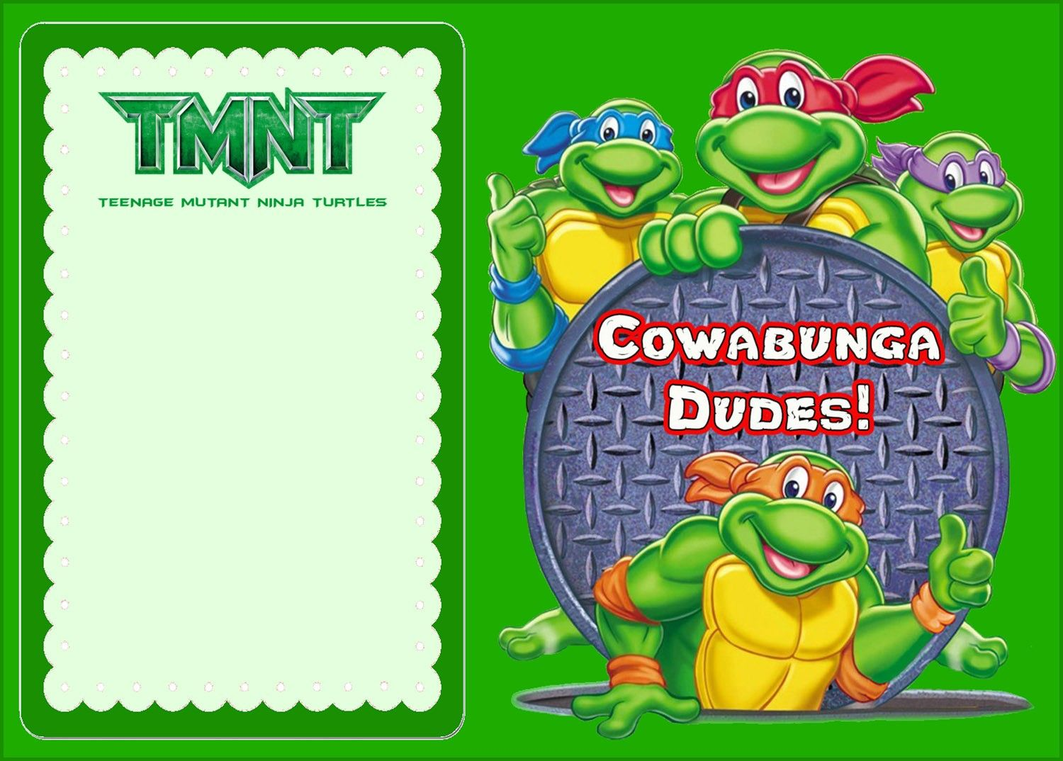 Free Online Ninja Turtle Invitation | Coolest Invitation Templates ...