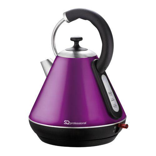 SQ Pro Purple Electric Cordless 1.8L Kettle 2200W Speed Boil onyx black