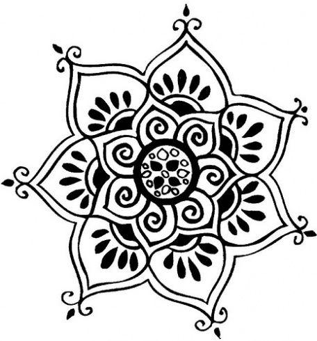 Lotus mandala tattoo tatoo pinterest mandalas - Plantilla mandala pared ...