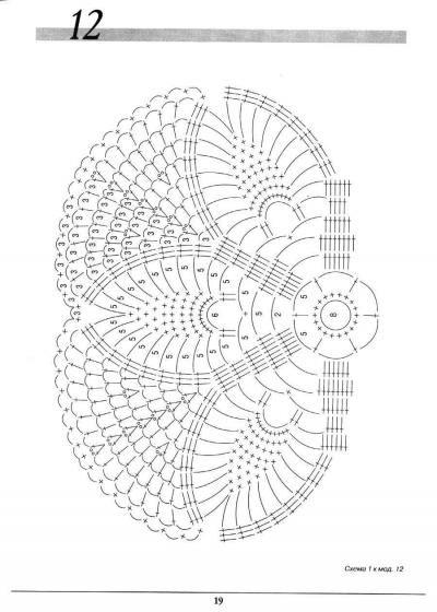 3 مفارش كروشيه بالباترونات - 3 crochet doilies ~ شغل ابره NEEDLE CRAFTS