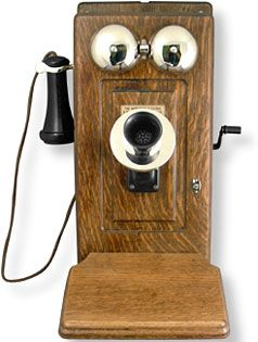 Northern Electric 317 Oak Wall Telephone Antique Phone Wall