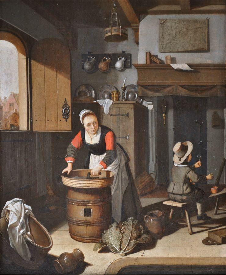 Kitchen Art Leiden.An Interior Scene Portraits Genre And Exterior Scenes Jean