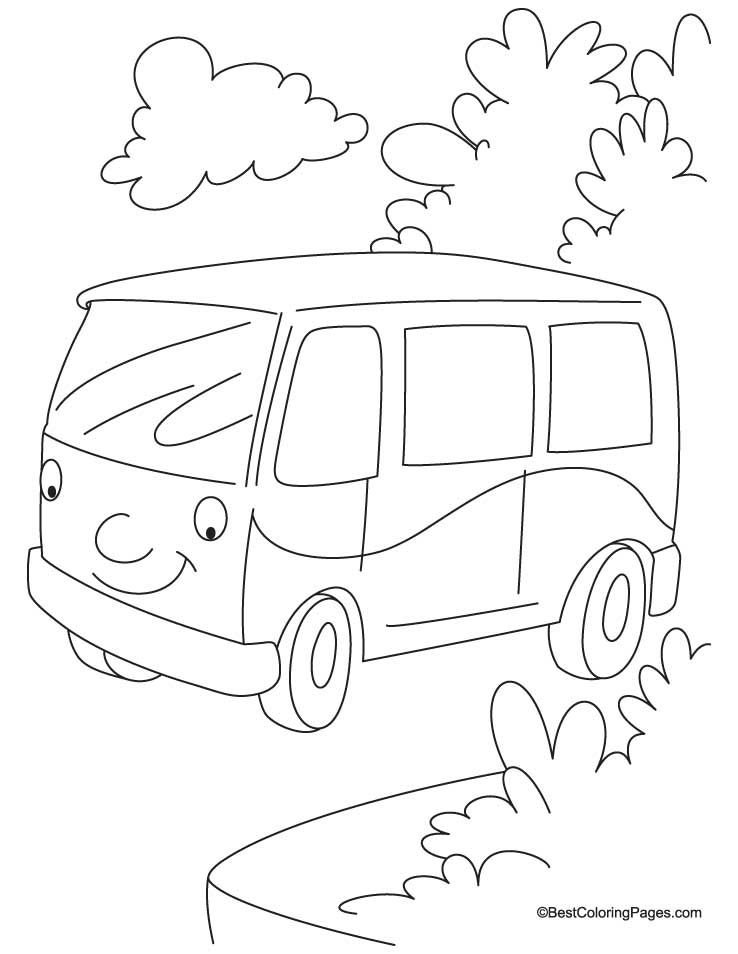 Jungle Van Coloring Page Download Free Jungle Van Coloring Page