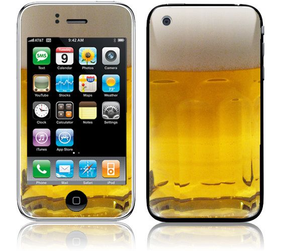 Apple iPhone Skin Cover - Beer Mug