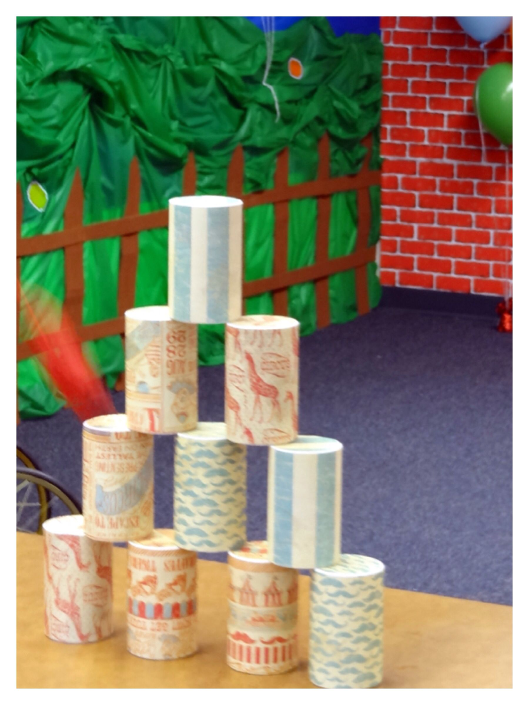 Carnival Or Circus Theme Can Game Emptied Salt Cans And
