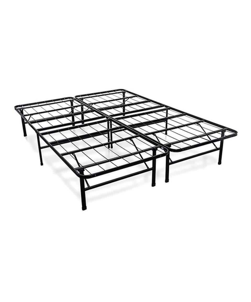 Take a look at this Comfort Sensation Innovated Box Spring Platform Metal Bed Frame today!