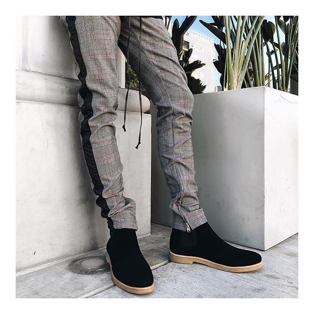 af0892fa35b black grandpa pants + black chelsea boots now available | free worldwide  shipping on mnml.la | @collmonns