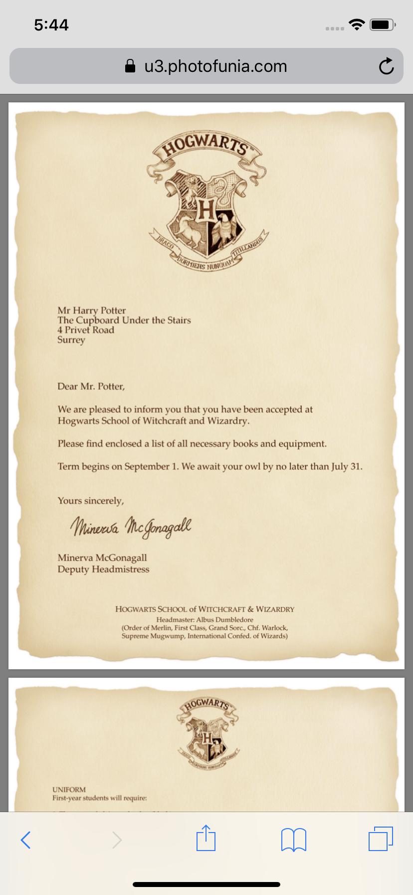 Harry Potter Hogwarts Acceptance Letter Customized Hogwarts Acceptance Letter For Free Printable Envelope Include Harry Potter Buchstaben Hogwarts Geschenke