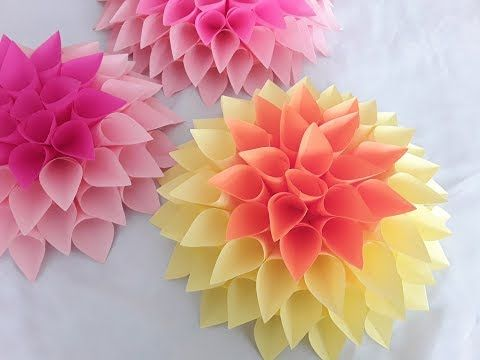 diy paper flower tutorial october flower series youtube