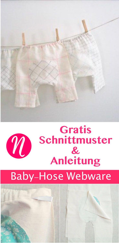 Baby-Hose aus Webware | Pinterest | Baby hose, erstes Baby und Leinen