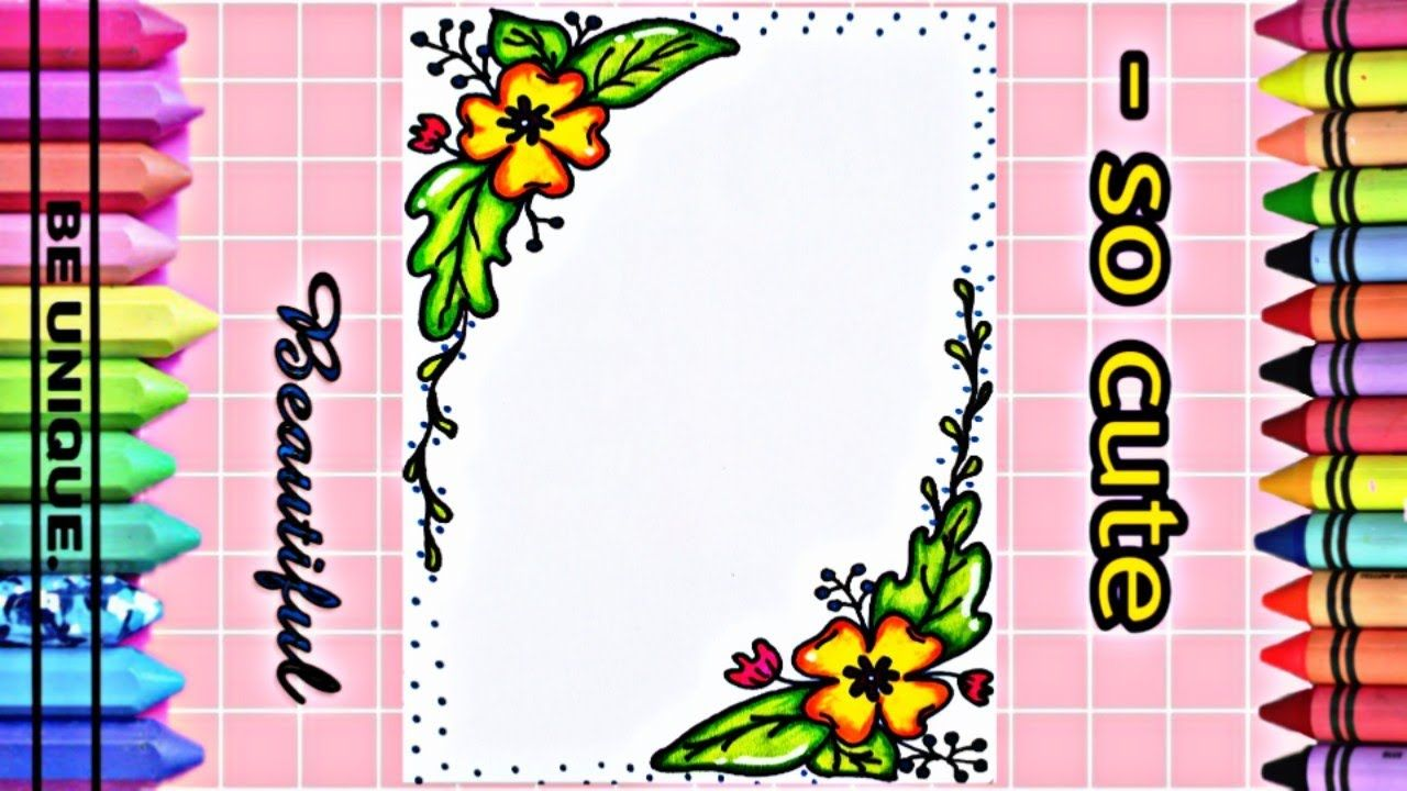 Drawing To Decorate Notebook Flowers تعليم الرسم تزيين دفاتر مدرسي Cute Unique