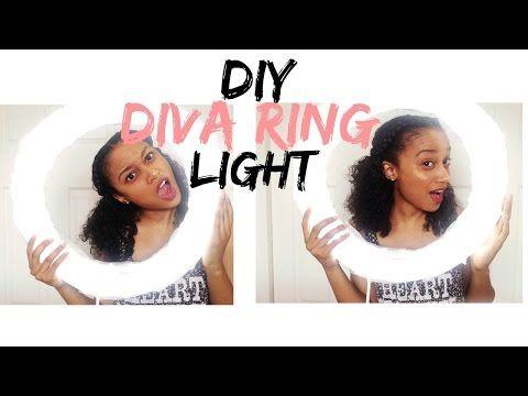 Led Bathroom Mirror Youtube diy diva ring light   under $25 - youtube   room ideas   pinterest