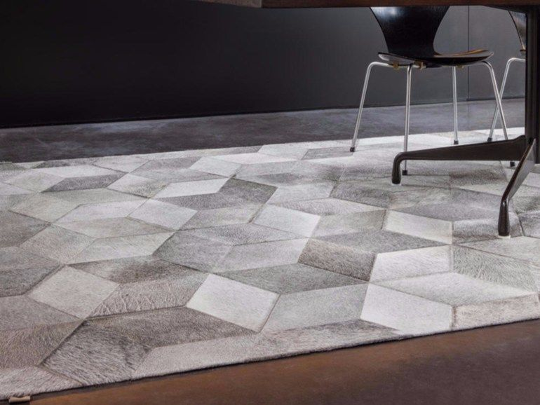 Patchwork cowhide rug cubic by limited edition design limited