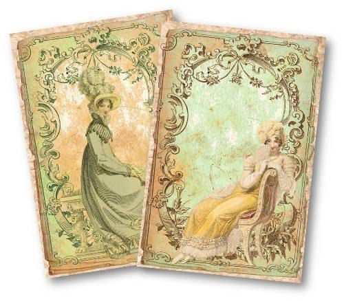 543-Jane Austen Vintage Papers Digital Collage Sheet - product images  of