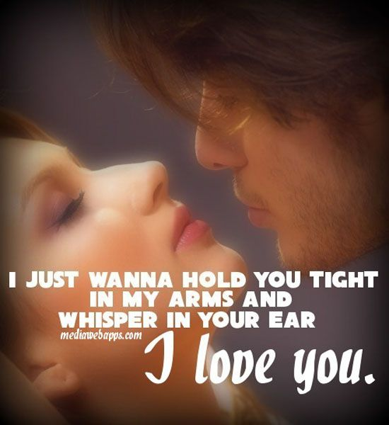 I just wanna hold you tight in...