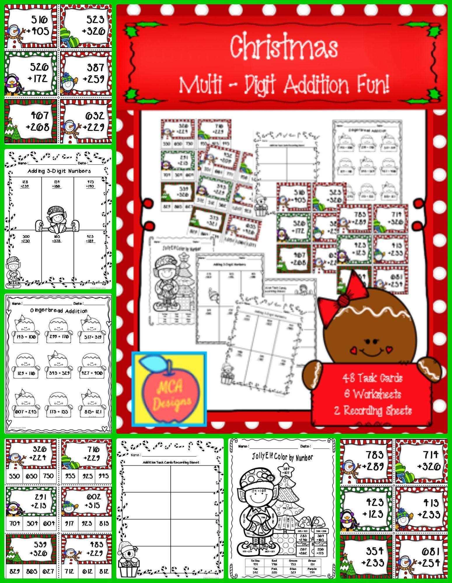 Christmas Multi Digit Addition