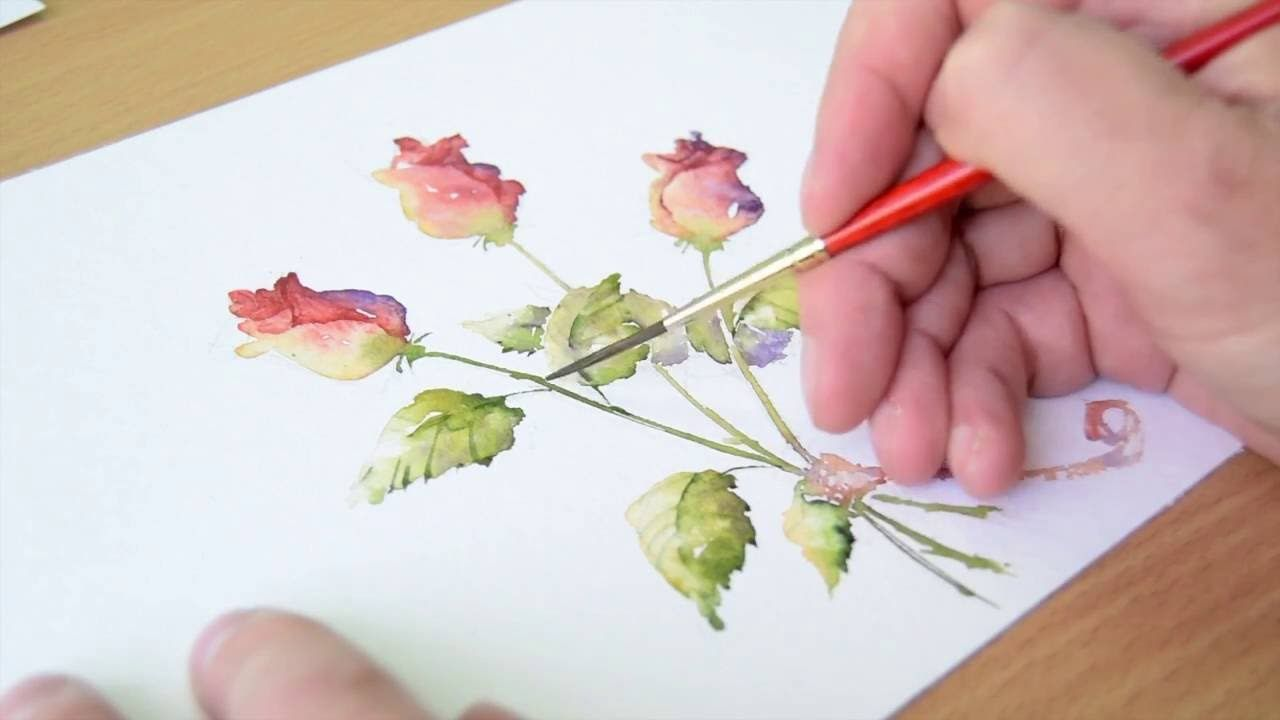 Simple Loose Watercolours Gather Ye Rosebuds With Andrew Geeson