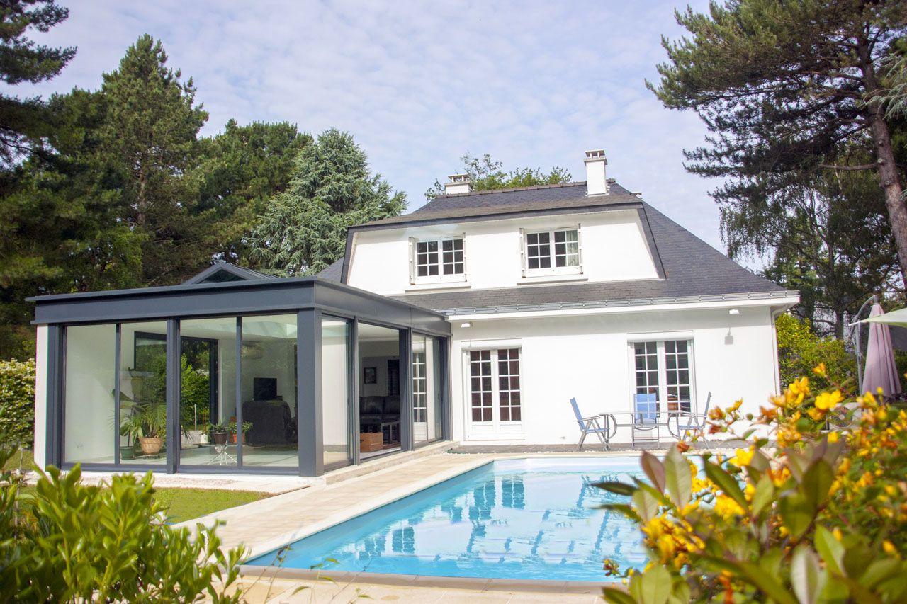 Véranda Concept Alu gamme EXTANXIA - extension avec grand puits de lumières | Maison style, Abri ...