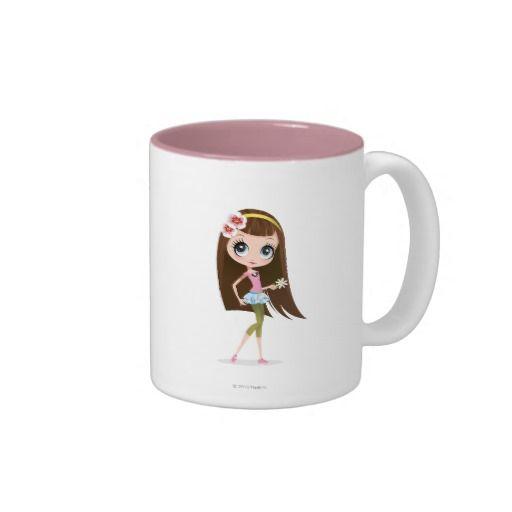 Blythe que sostiene la flor. Regalos, Gifts. Producto disponible en tienda Zazzle. Tazón, desayuno, té, café. Product available in Zazzle store. Bowl, breakfast, tea, coffee. #taza #mug