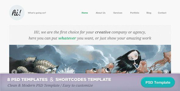awesome Hi!: Creative Portfolio Template