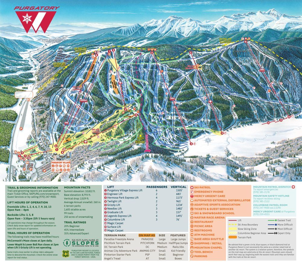 This Is The Map To Your Alpine Adventure All 1 605 Acres Of It You Might Notice That The Old Legends Lift Has Been Repl Alpine Adventure Trail Maps Best Hikes
