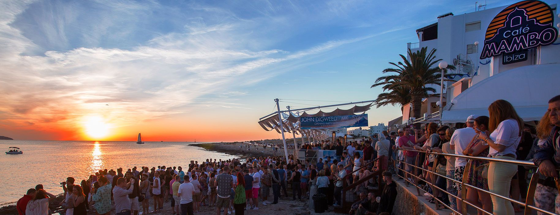Cafe Mambo next door to Cafe del Mar. Good for sunset