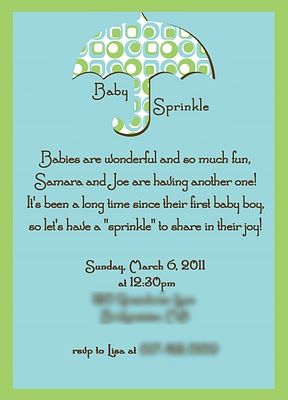 Baby Sprinkles Invite Wording Would Change To Quot This One