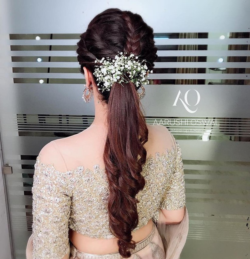 Pretty Doable Hairstyles For Thin Hair For Brides Bridesmaids In 2020 Bridal Hairstyle Indian Wedding Elegant Hairstyles Pony Hairstyles