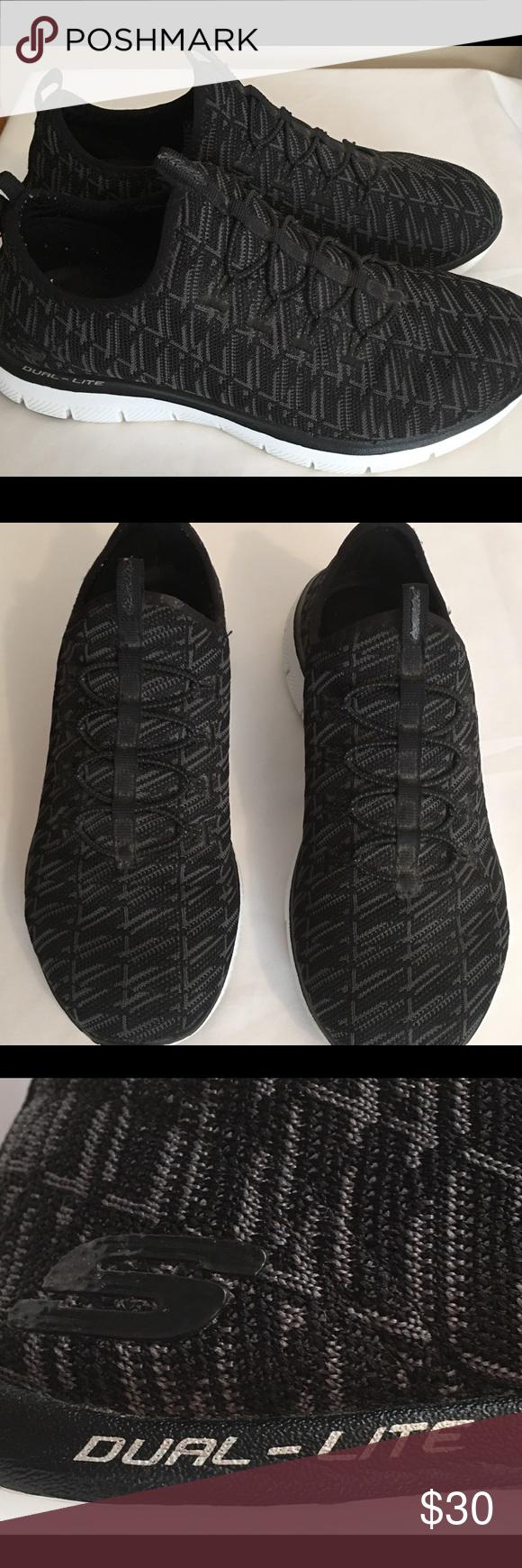 Skechers Dual-Lite Memory Foam Slip