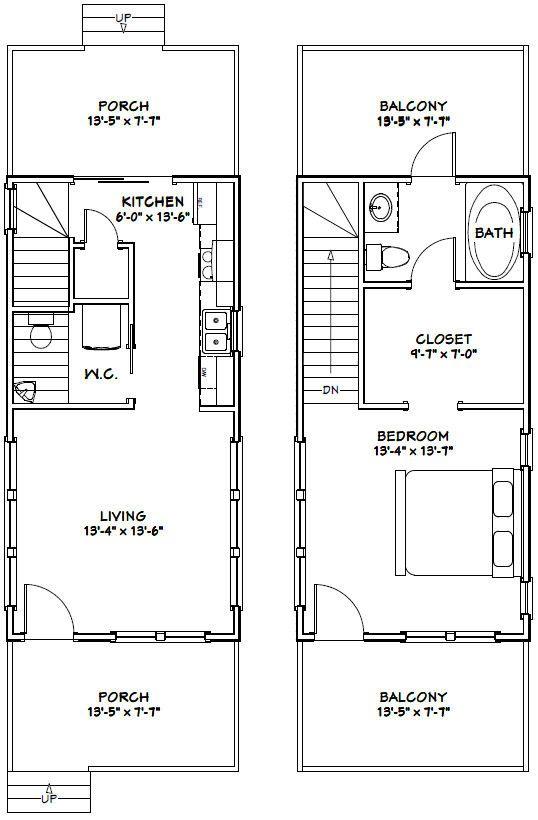 14x28 Tiny House 14x28h6g 749 Sq Ft Excellent Floor Plans Tiny House Plans Tiny House Floor Plans Garage House Plans