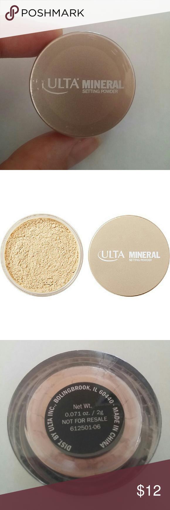 Ulta mineral setting powder Setting powder, Talc free
