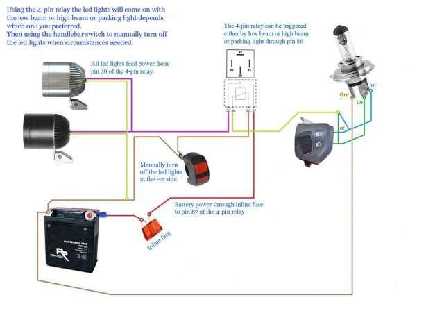 17 motorcycle led headlight wiring diagram  motorcycle led