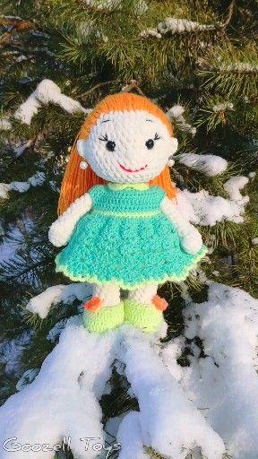 Photo of CROCHET DOLL PATTERN, Amigurumi baby doll pattern, Stuffed doll toy, Plush toys pattern