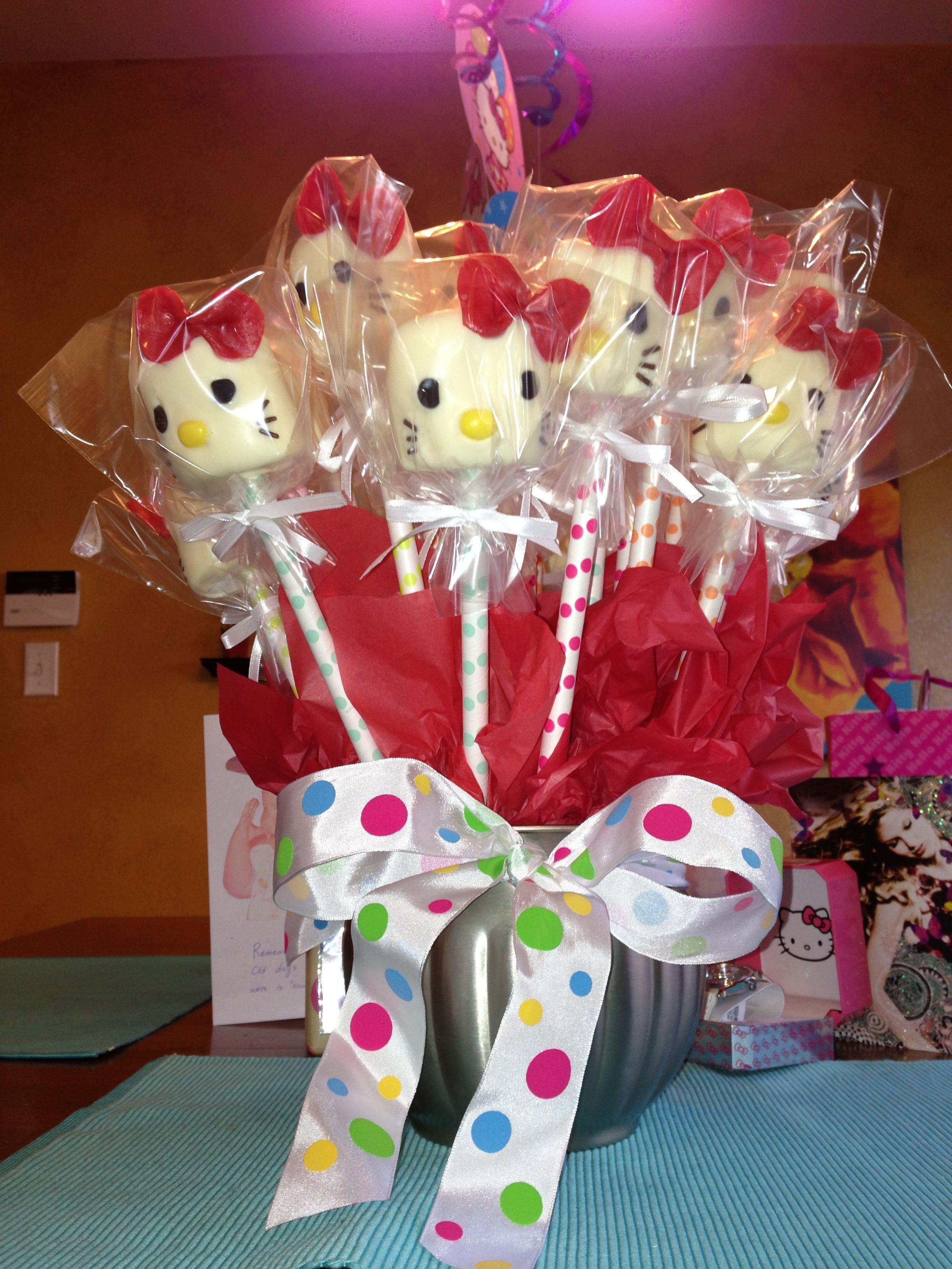 Hello Kitty marshmallow pop Bouquet. .