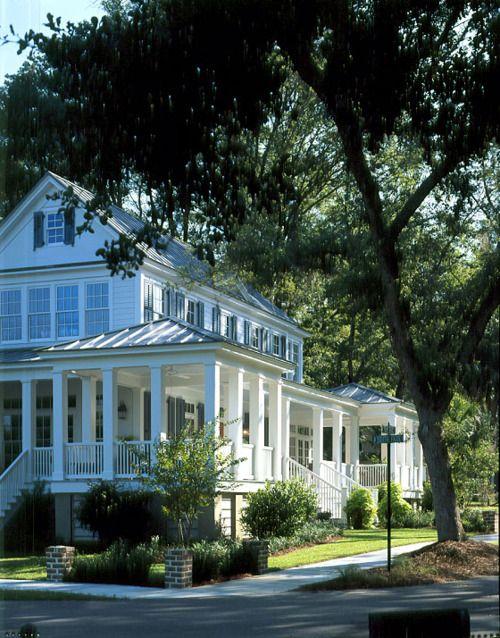 I could live in the south if I get to live here...Carolina Island Home via Coastal Living House Plans.
