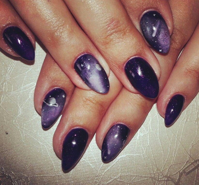 Nail art galaxy nails   nails art-painting   Pinterest   Galaxy nail