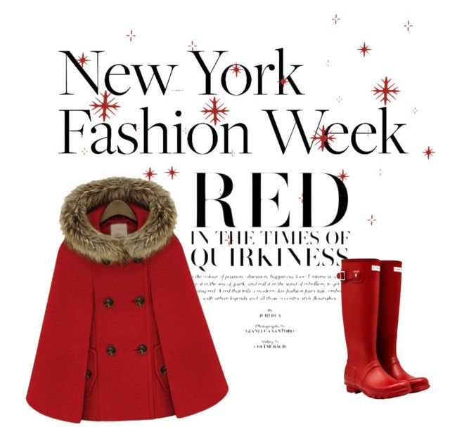 The timeless red🌹 by carlotinha-2002 on Polyvore featuring polyvore, fashion, style, WithChic, Hunter and clothing