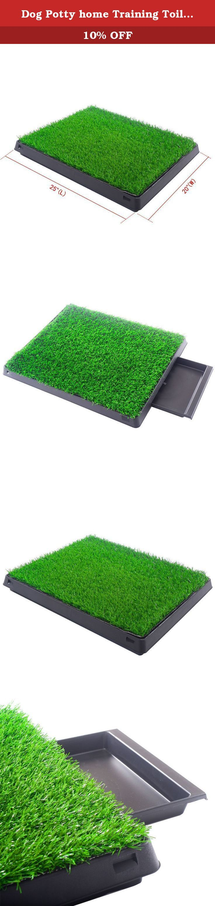 Dog potty home training toilet pad grass surface pet park mat