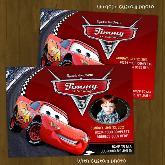 Disney Cars Birthday Party Ticket Invitations BY Party Sprinkles – Printable Cars Birthday Invitations