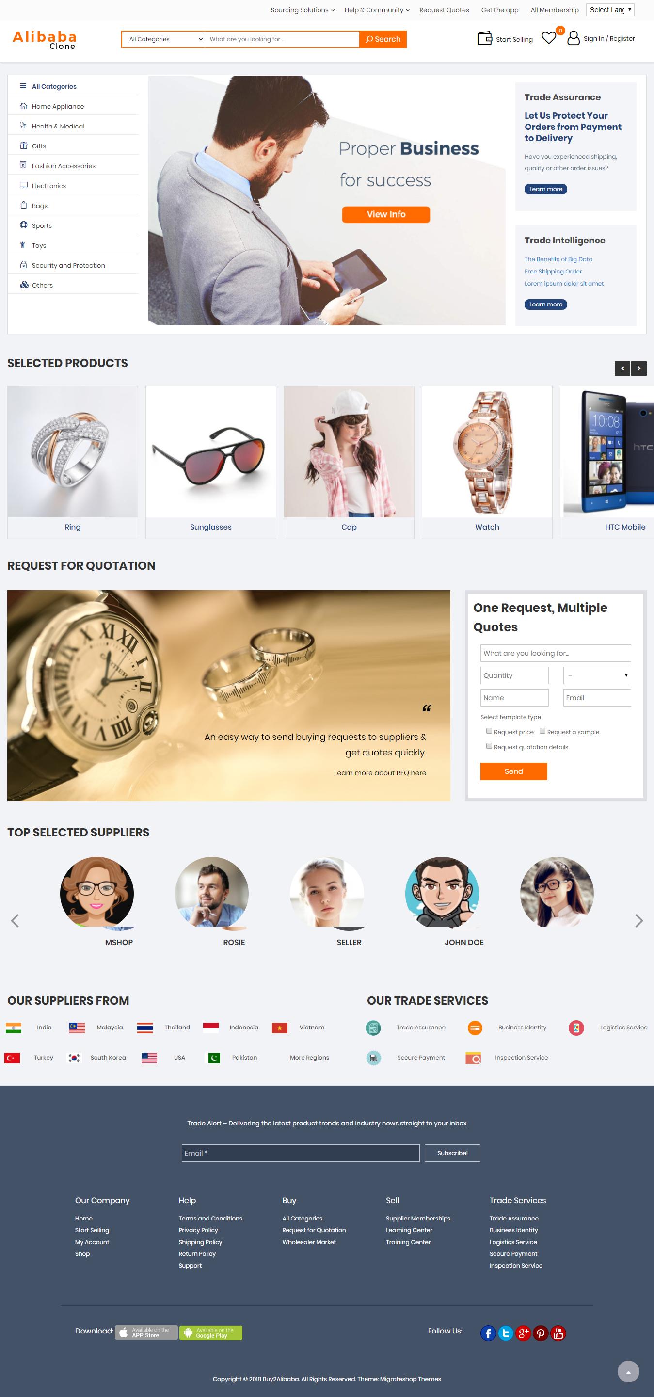 Alibaba Clone script - Create you own b2b trading website like