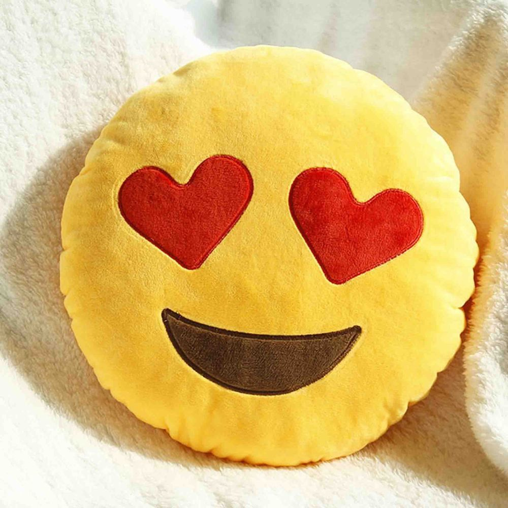 Emoji decorative throw pillow stuffed smiley cushion home decor for