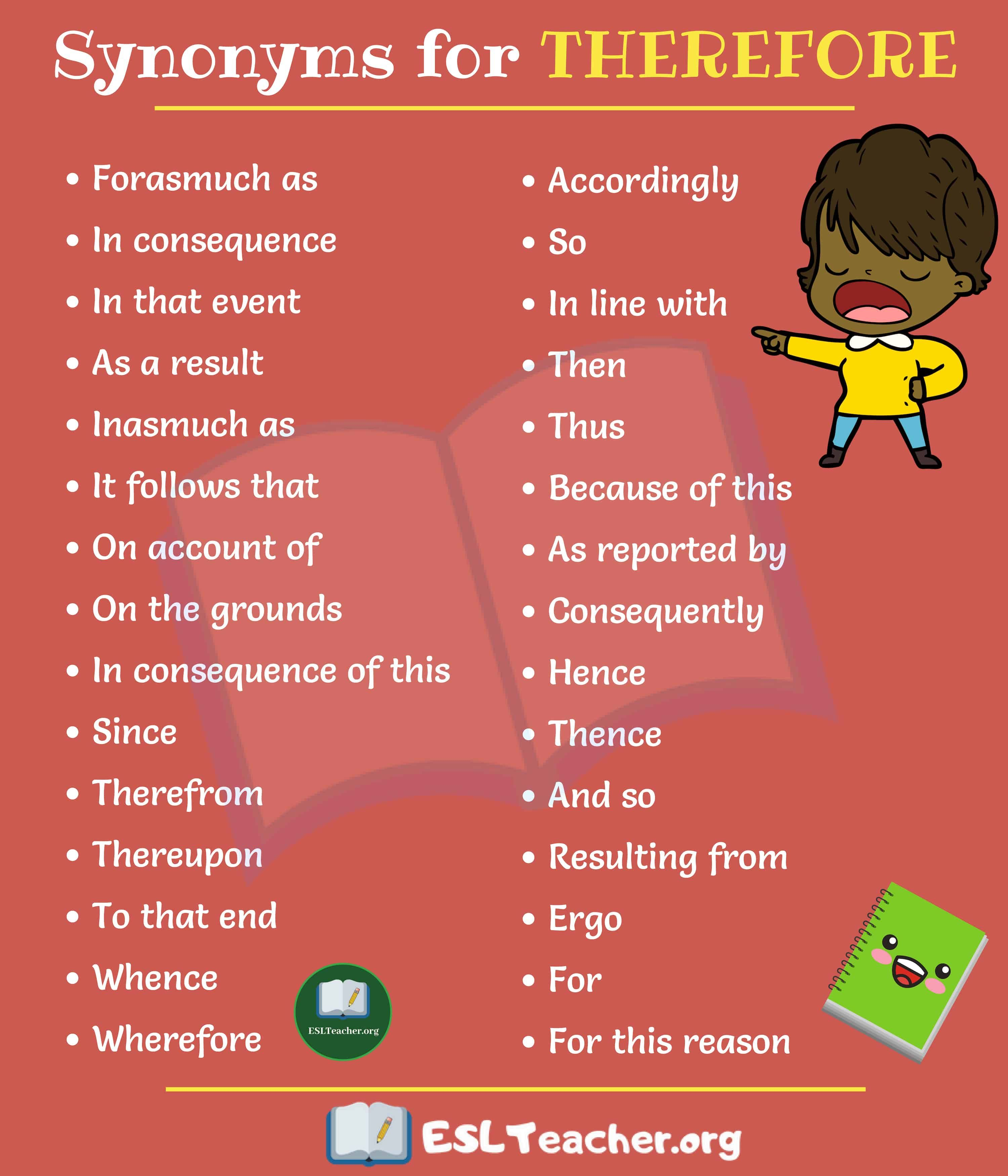 Therefore Synonyms 30 Interesting Ways To Say Therefore