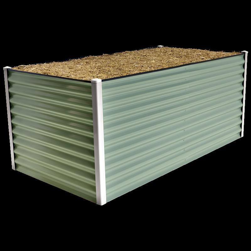 Birdies 1.8 x 0.9m x 740mm Pale Eucalypt Corrugated Steel