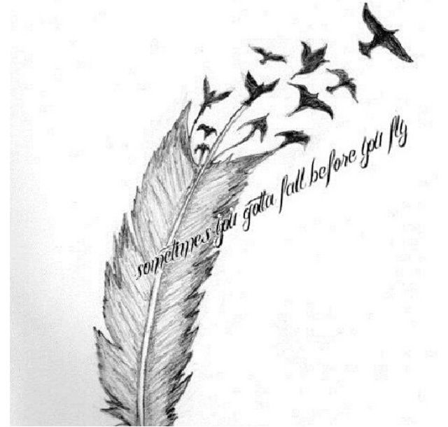 Sleeping With Sirens lyrics | Drawing | Feather tattoos, Flying tattoo, Siren tattoo
